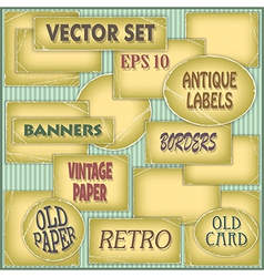 Old paper labels vector