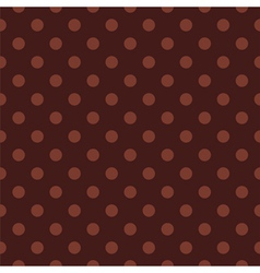 Tile polka dots pattern with brown background vector