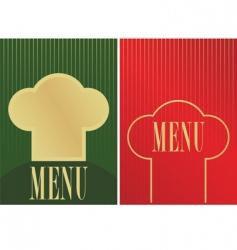 menu cards vector image