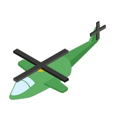Army helicopter isometric 3d icon vector
