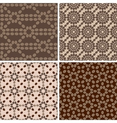 Coffee seamless patterns set 2 vector