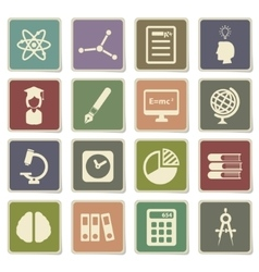 University simply icons vector