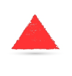A triangular figure drawn with paint vector