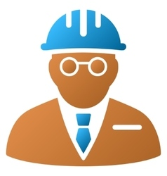 Blind engineer gradient icon vector