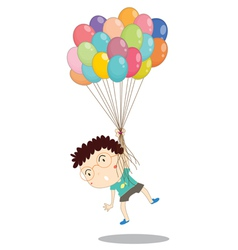 a boy with balloons vector image vector image