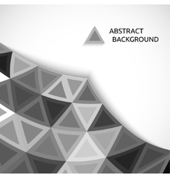 abstract background of gray triangles vector image