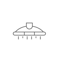 air extractor isolated icon in linear style vector image