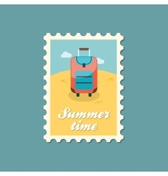 Baggage stamp Travel Summer Vacation vector image