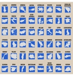 Big set of all Europe states vector image