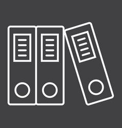 Binders line icon business and folder vector