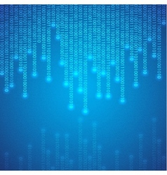 Blue binary background vector