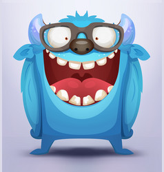 blue monster vector image vector image