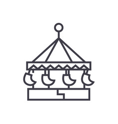 carouselswing attractionmerry go round vector image