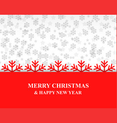christmas card with snowflakes background vector image vector image