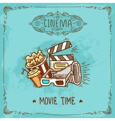 Cinema poster sketch vector