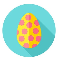 Easter Egg with Circles Decor Circle Icon vector image vector image