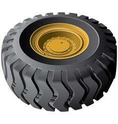 Engineering vehicles wheel vector image