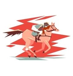 Equestrian horse racing vector