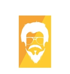 gentleman face hipster style vector image vector image