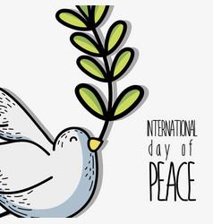 Global peace and love to worldwide harmony vector