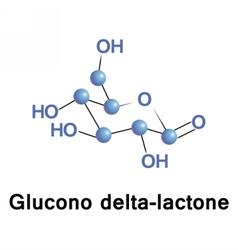 Glucono delta lactone vector image vector image