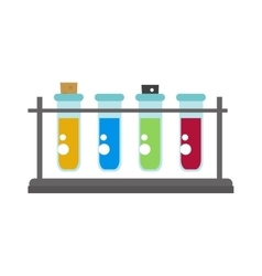 Lab flask vector image