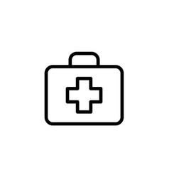 Line first aid icon on white background vector