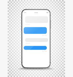 Modern frameless smartphone with chet template vector