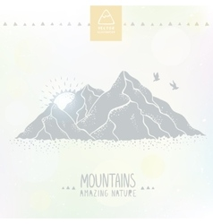 mountain silhouette vector image