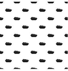Nachos in bowl pattern vector