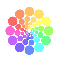 Partly transparent rainbow spectrum color circles vector