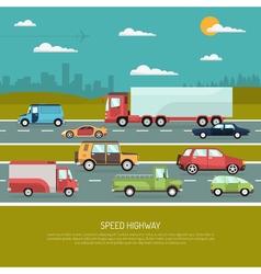 Speed highway vector