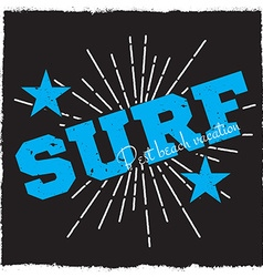 Surfing background vector image vector image