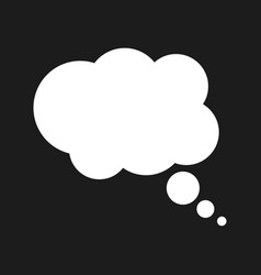 Thought bubble on the black background vector