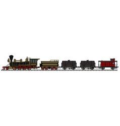 Vintage american steam train vector
