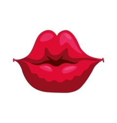 Lips icon part of boby design graphic vector