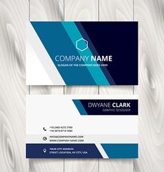 Stylish blue stripe business card design vector