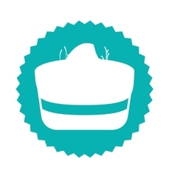 Delicious sweet cake icon vector