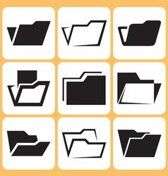 folder icons set vector image