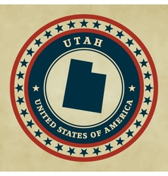Vintage label utah vector