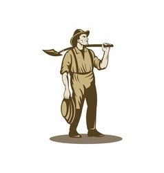 Miner prospector or gold digger vector