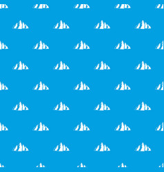 Mountain pattern seamless blue vector
