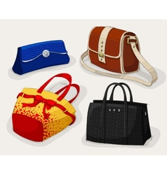 Collection of classic womans bags vector image