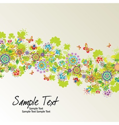 Floral line10 01 03 vector