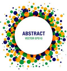 Bright abstract circle frame vector