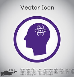 Icon head think silhoutte man and his mind about t vector