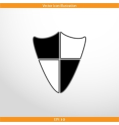 Shield web flat icon vector