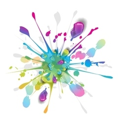 Splashes of colorful ink vector