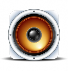Speaker detailed icon vector