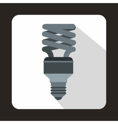 Energy saving bulb icon in flat style vector